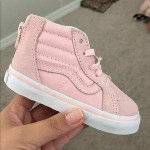 BNIB toddler VANS blush pink